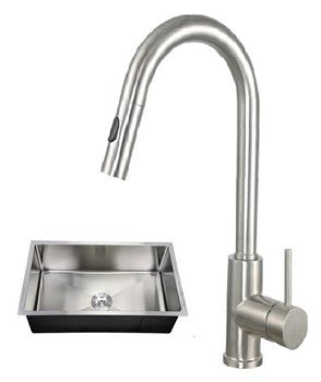 32X19 PerfecFlo™ Sink and an Ashen Faucet