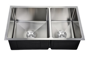 6040 Double Unequal Bowl PerfecFlo™ Sink and a Hamilton Faucet