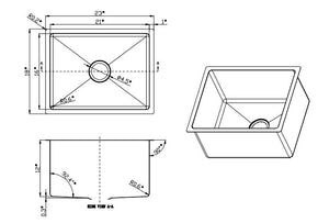 "2318 - 12"" Deep PerfecFlo™ Laundry Sink and a Bristol Faucet"