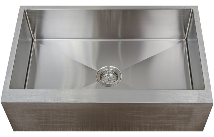 PerfectFlo™ 33 x 21 Apron Front Farm Small Radius Sink that Drains 10 Deep Eclipse 3321A