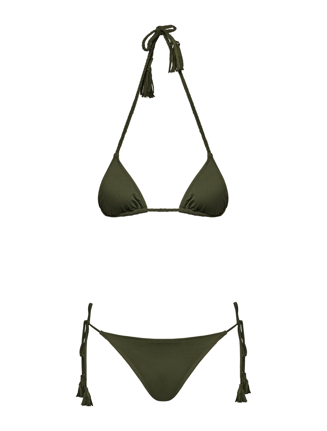 MB 107 Army Green Braided Bikini
