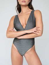 Deep V-Neckline One Piece