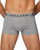 Hugo Boss Mens 3 Pack Trunks Black White Heather Grey Designer Outlet Sales Luxury Couture Clearance