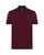 Ralph Lauren Mens Contrast Collar Large Pony Polo Shirt Wine Navy Designer Outlet Sales Luxury Couture Clearance