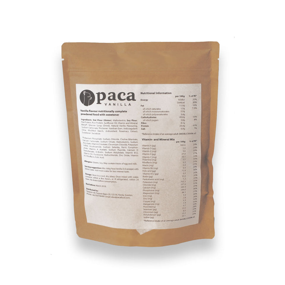 Paca Nutritional Information