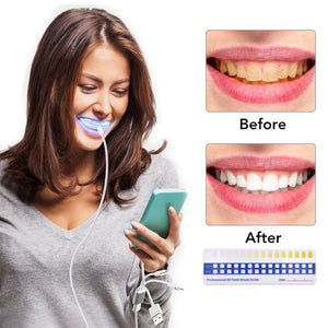 Teeth Whitening Kit With 16 Blue Light Leds Nlaxents