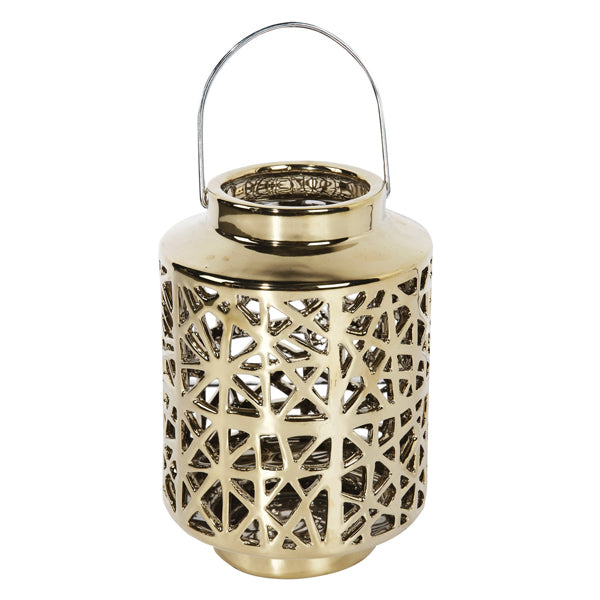 GOLD HANDLE LANTERN - Boutique Furniture Direct
