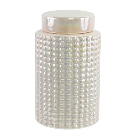 PEARL DIAMOND GINGER JAR - SML - Boutique Furniture Direct