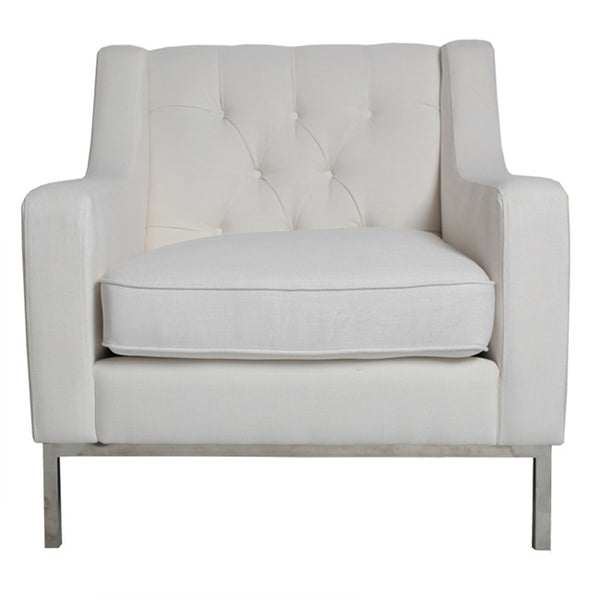 MONTGOMERY ARMCHAIR - WHITE - Boutique Furniture Direct