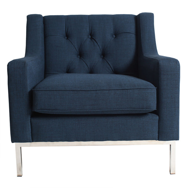 MONTGOMERY ARMCHAIR - FRENCH NAVY - Boutique Furniture Direct