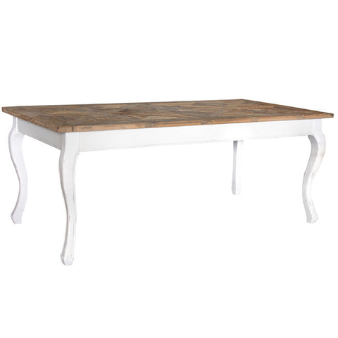 PROVINCIAL PARQUET DINING TABLE - Boutique Furniture Direct