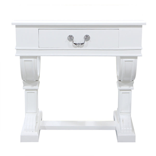 CURTIS BEDSIDE WHITE - Boutique Furniture Direct