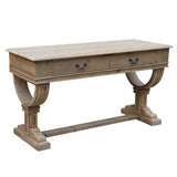 CURTIS 2 DRAWER PETITE CONSOLE - NATURAL - Boutique Furniture Direct
