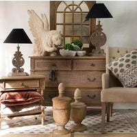 POLO BEDSIDE TABLE - OAK WASH - Boutique Furniture Direct