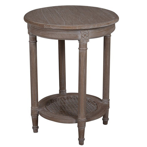 POLO OCCASIONAL ROUND TABLE - OAK WASH - Boutique Furniture Direct