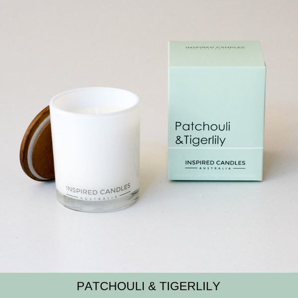 PATCHOULI & TIGERLILY CANDLE - Boutique Furniture Direct