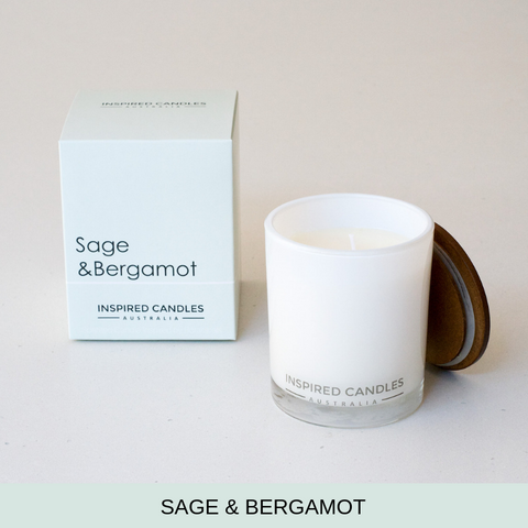 SAGE & BERGAMOT CANDLE - Boutique Furniture Direct