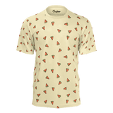Funny yellow t shirt with watermelons pattern for women and ladies also suitable for men and boys