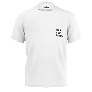 "T-shirt with ""Only God's things"""