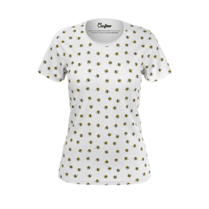 Tshirt with bees pattern for women