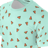 Funny green t shirt with watermelons pattern for women and ladies also suitable for men and boys