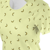 Funny yellow t shirt with yellow bananas pattern for women and ladies