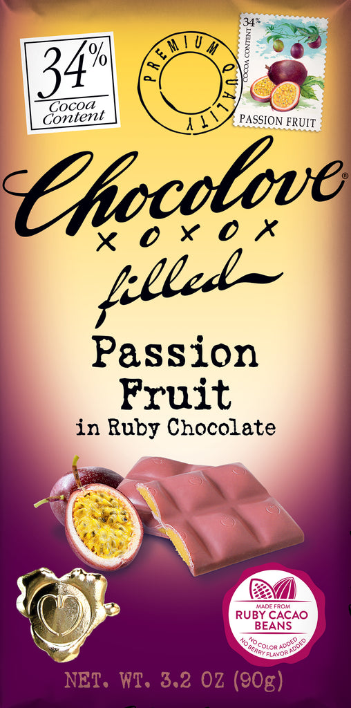 Chocolove Filled Passion Fruit Ruby Cholate Bar