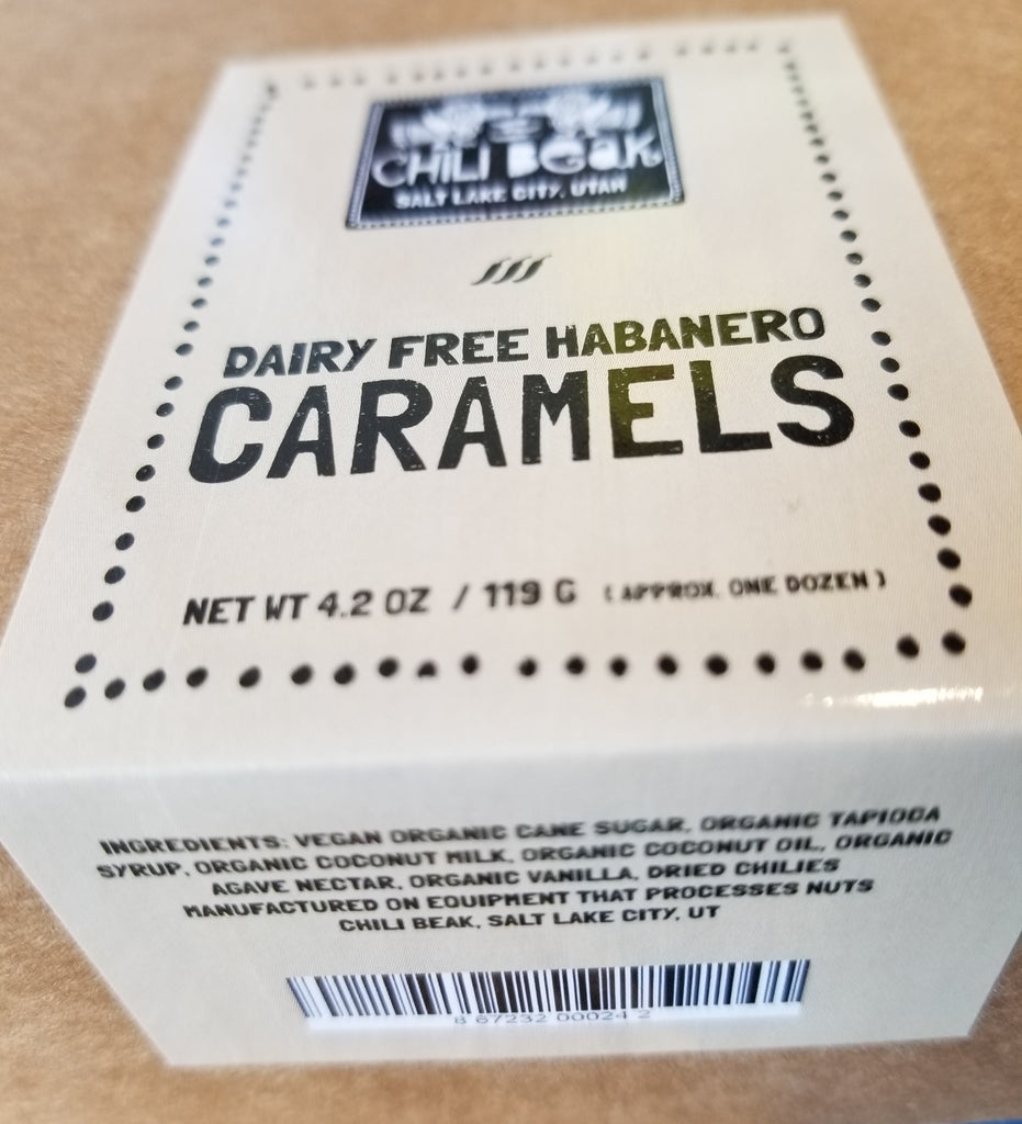 Chili Beak Caramels Dairy Free 4.2 oz.