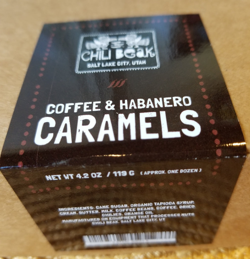 Chili Beak Caramels Coffee Habanero 4.2 oz.