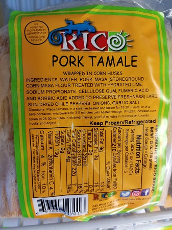 Rico Pork Tamales with Red Sauce 5pk