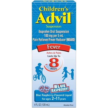 Advil Childrens Blue Raspberry 4oz