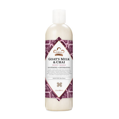 Nubian Body Wash Goats Milk & Chai 13 oz