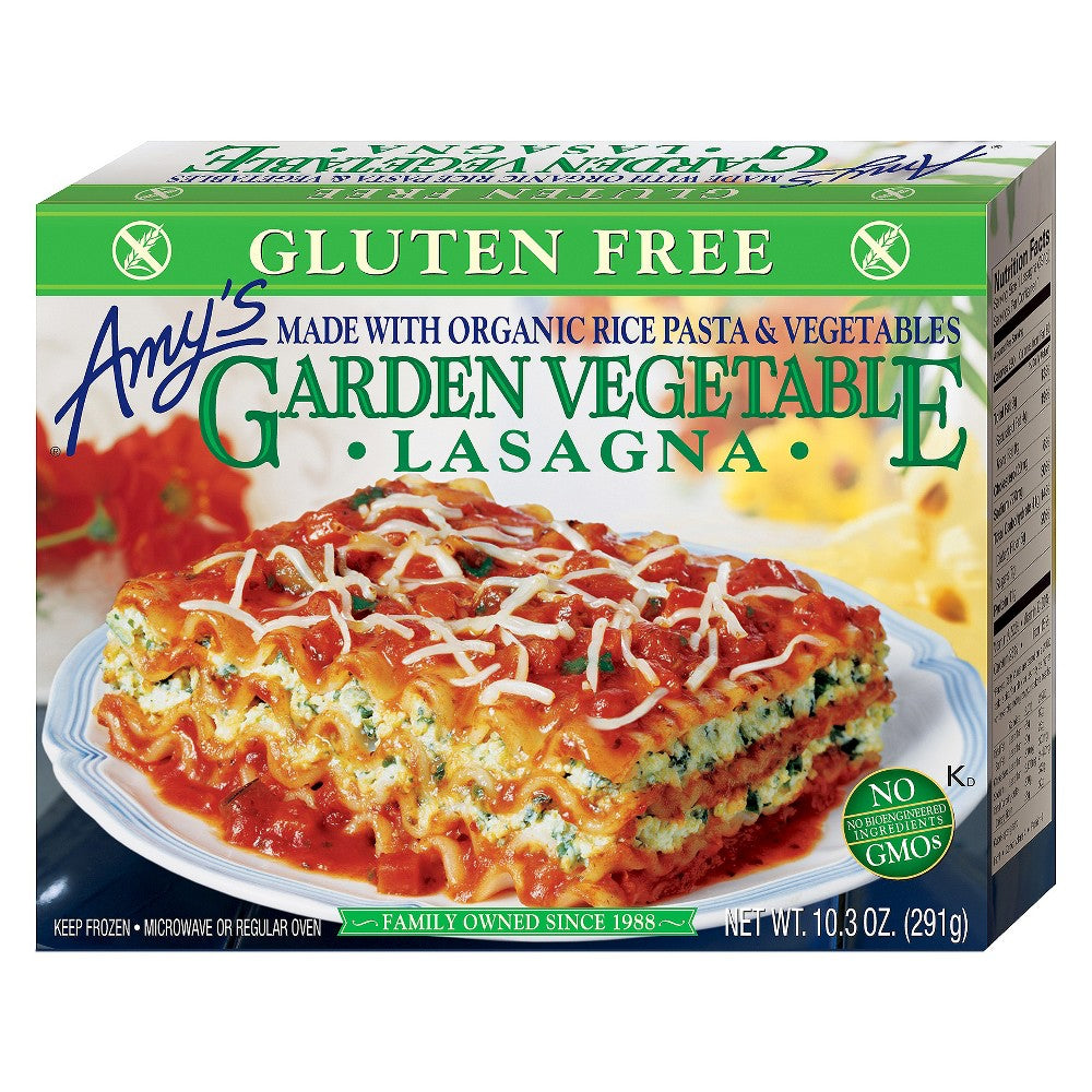 Amy's Garden Vegetable Lasagne with Rice Pasta
