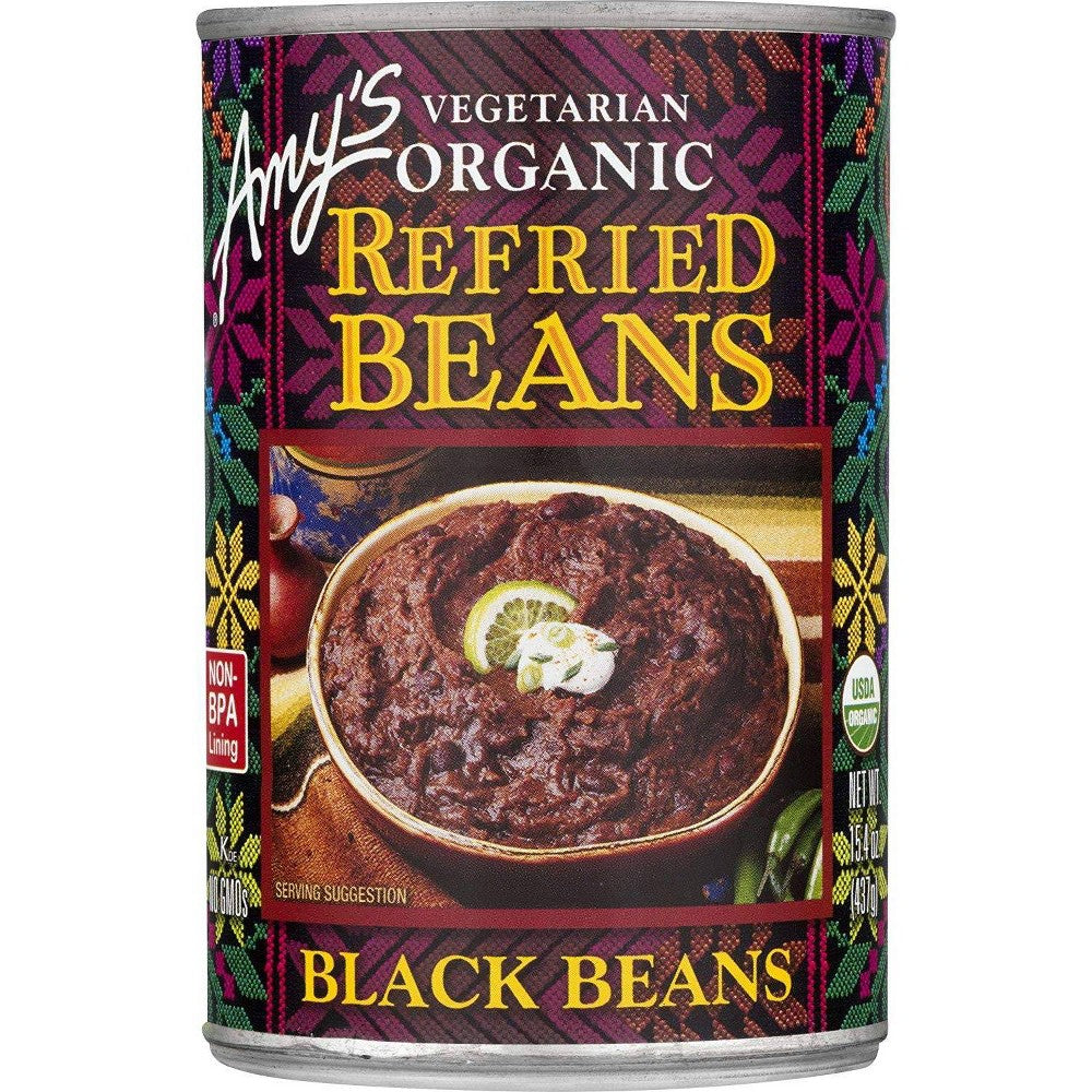 Amys Refried Black Beans 15.4oz