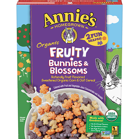 Annie's Organic Fruity Bunny & Blossoms Cereal