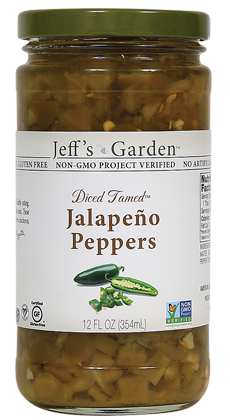 "Jeffs Garden ""Tamed"" Diced Jalapenos"