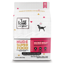 I and Love and You Nude Superfood Dog Food Red Meat Medley