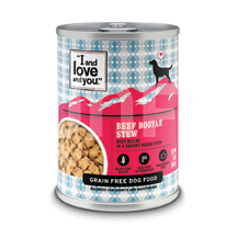I and Love and You Canned Dog Food Beef Booyah Stew