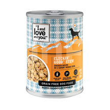 I and Love and You Canned Dog Food Cluckin' Good Stew