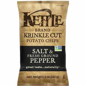 Kettle Brand Chips Salt & Pepper Krinkle Cut
