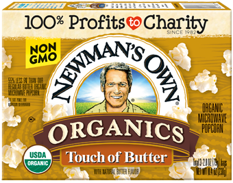 Newman's Own Microwave Popcorn Touch of Butter