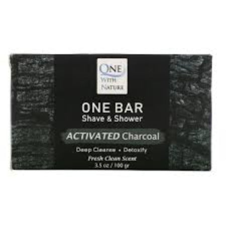 One Bar Shave & Shower Activated Charcoal 3.5oz