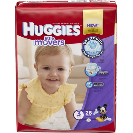 Huggies Little Movers Diapers, Size 4 12pk