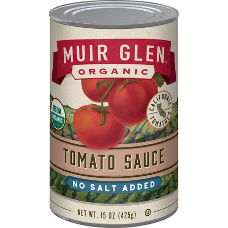 Muir Glen Tomato Sauce No Salt Added, 15oz