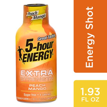 5 Hour Energy Extra Peach Mango 1.93oz