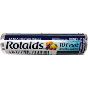 Rolaids Assorted Fruit, 10-Tablet Roll