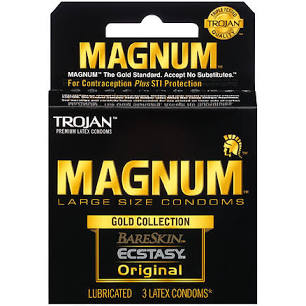 Trojan Condoms Magnum, 3ct