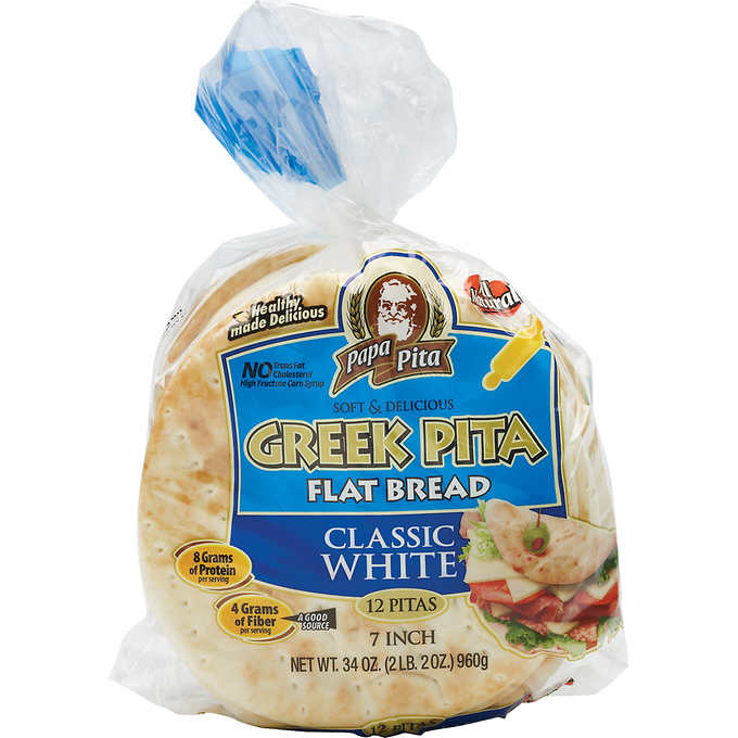 "Papa Pita 7"" Greek Flatbread, 12ct"