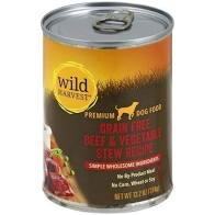Wild Harvest Canned Dog Food Beef Veggie Stew 13.2oz