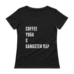 Coffee Yoga Gangster Rap Tee